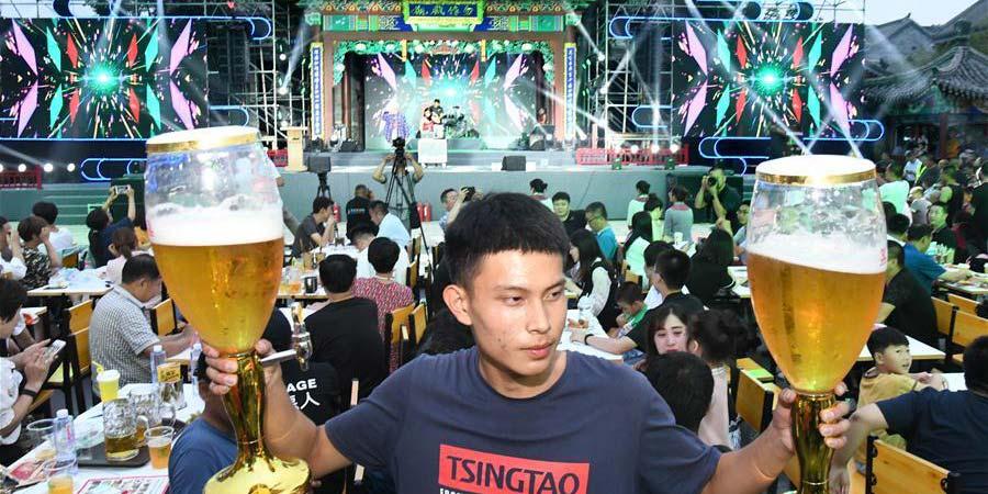 29º Festival Internacional de Cerveja de Qingdao é realizado na cidade antiga de Jimo