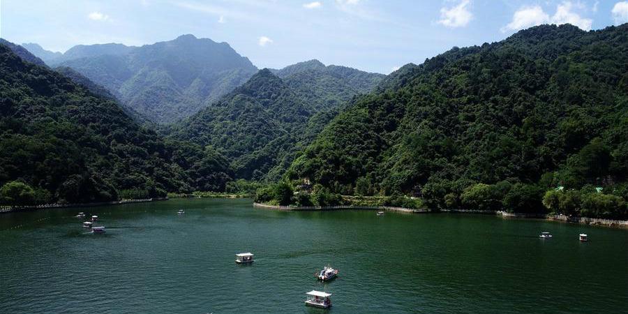 Paisagem de verão das Montanhas Qinling, noroeste da China