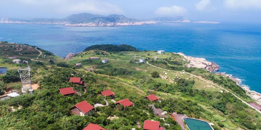 Construídas pousadas familiares com diferentes estilos na ilha Nanji em Zhejiang