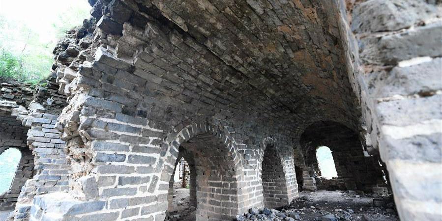 Fotos: parte da Grande Muralha no reservatório de Panjiakou, em Hebei