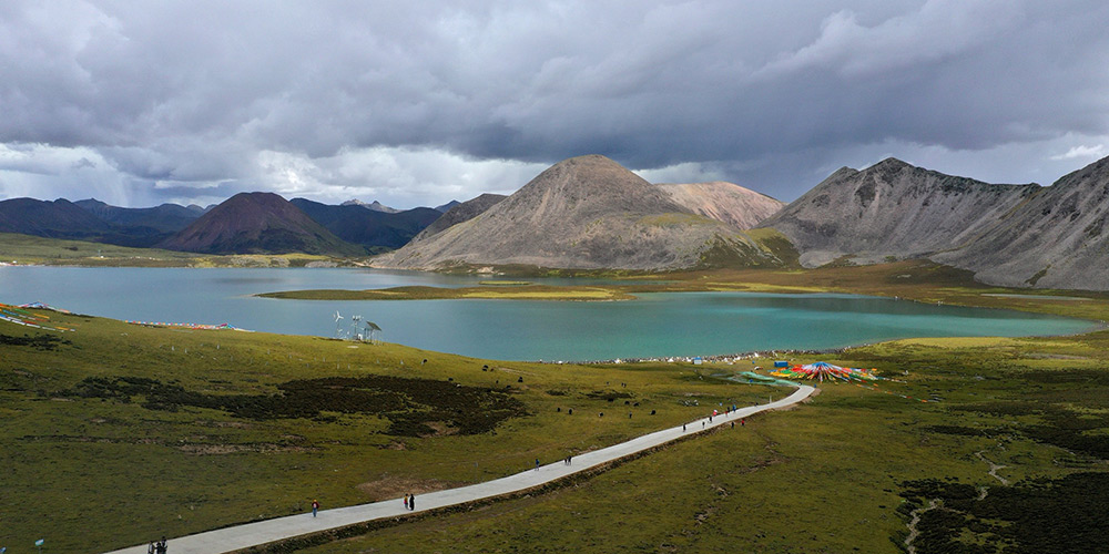 Fotos: paisagem do lago Si Chen Lhasa Tso no Tibet, sudoeste da China