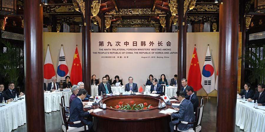 Chanceleres da China, Japão e RDC se encontram em Beijing