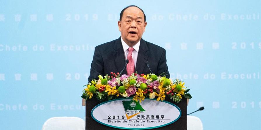 Ho Iat Seng eleito chefe do Executivo a ser designado de Macau