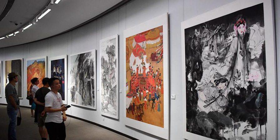 Exposição Internacional por Convite de Arte da Rota da Seda Contemporânea é realizada em Shaanxi