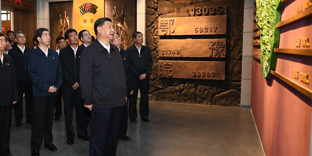 Xi enfatiza confiança e trabalho árduo durante inspeção no centro da China