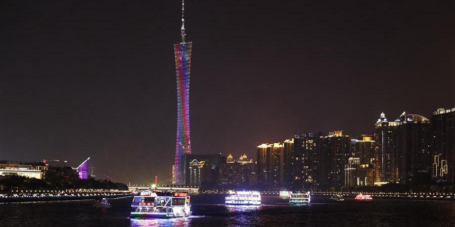Shows de luzes são realizados em comemoração ao 70º aniversário da fundação da RPC