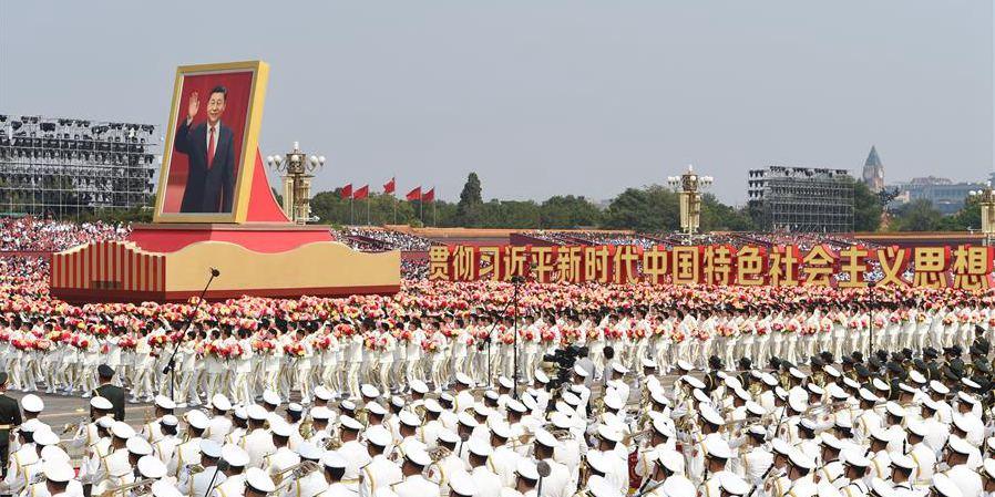 Grande celebração do 70º aniversário de fundação da República Popular da China em Beijing
