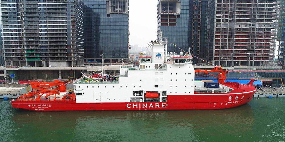 Primeiro quebra-gelo polar fabricado na China começa sua viagem inaugural
