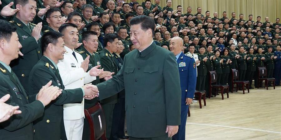 Xi reúne-se com delegados do congresso do Partido da força conjunta de apoio logístico e altos oficiais do ELP em Hubei