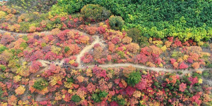 Paisagem da área cênica da montanha Xiantai em Hebei, norte da China