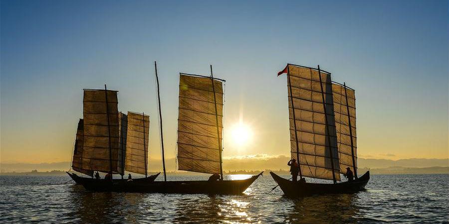 Fotos: Temporada de colheita do lago Dianchi em Kunming