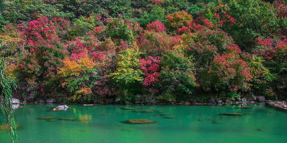 Paisagem da montanha Yuntaishan em Henan