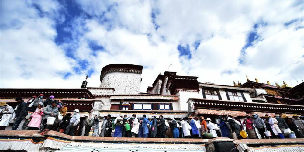 Fotos: Obra de renovação anual do Palácio Potala em Lhasa