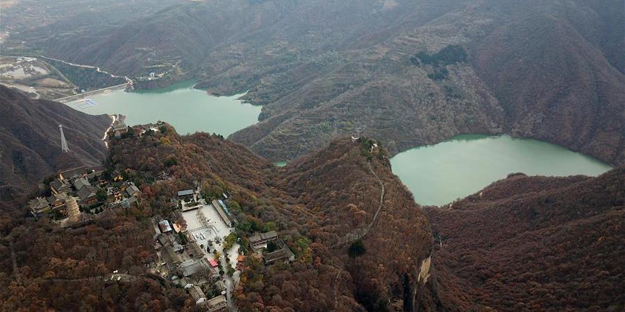 Paisagem da montanha Kongtong no noroeste da China