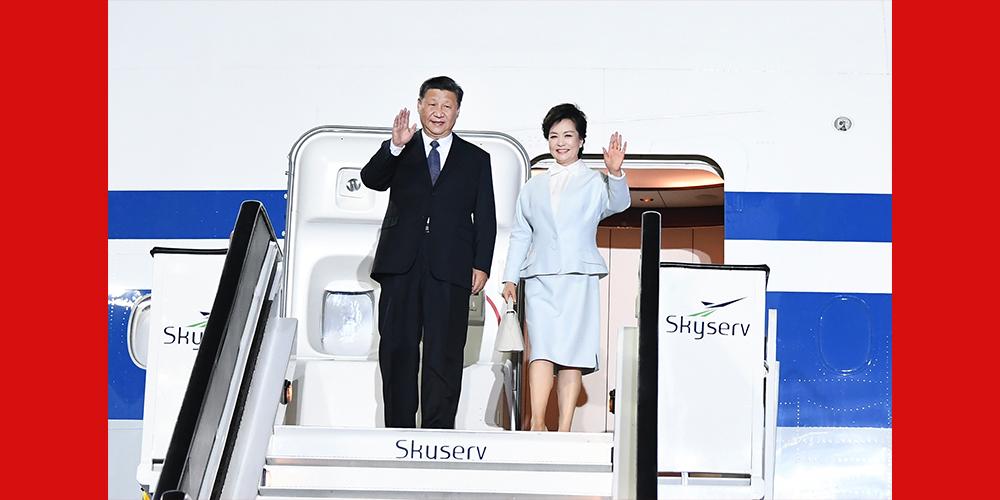 Presidente chinês chega à Grécia para visita de Estado