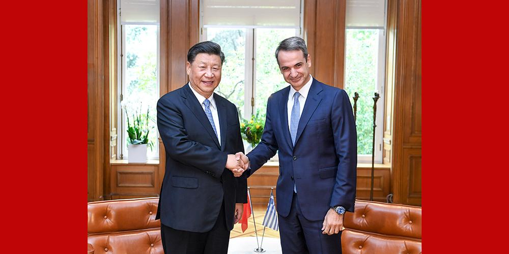 Xi pede fortalecimento da cooperação prática China-Grécia