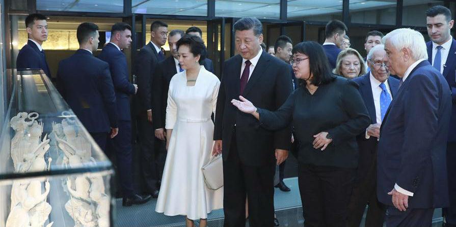 Presidentes chinês e grego visitam Museu da Acrópole