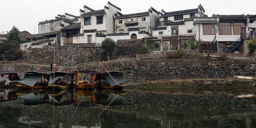 Paisagem da área cênica da barragem Yuliang em Anhui