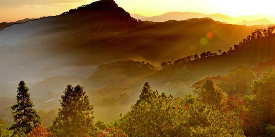Paisagens da montanha Wuyi em Fujian, sudeste da China