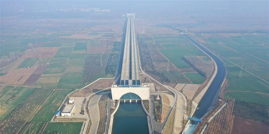 Fotos: Aqueduto Shahe do Projeto de Desvio de Água do Sul para o Norte da China em Henan