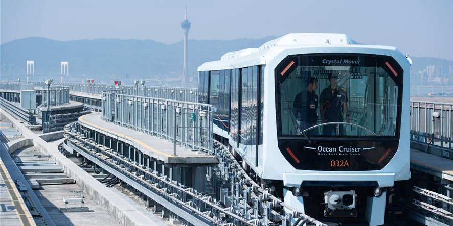 Metro ligeiro de Macau abre ao público