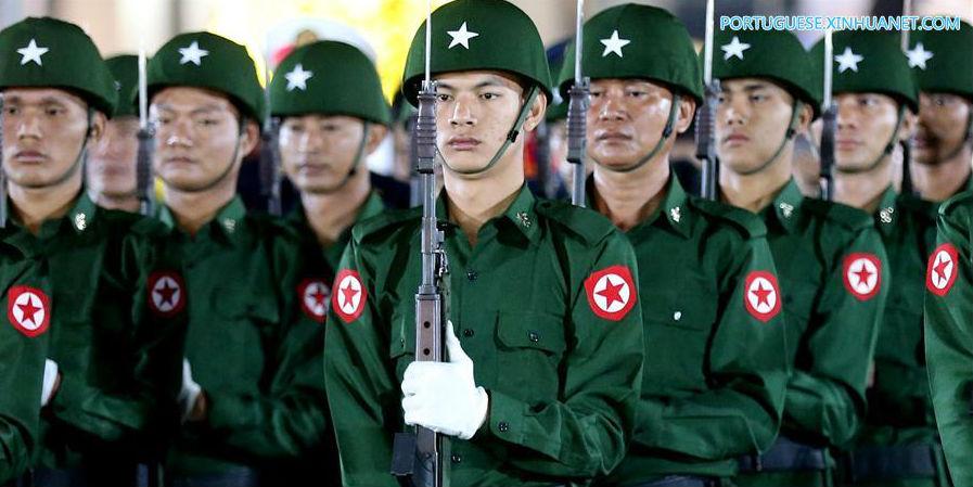 Mianmar: Cerimônia de Levantamento de Bandeira do Dia da Independência