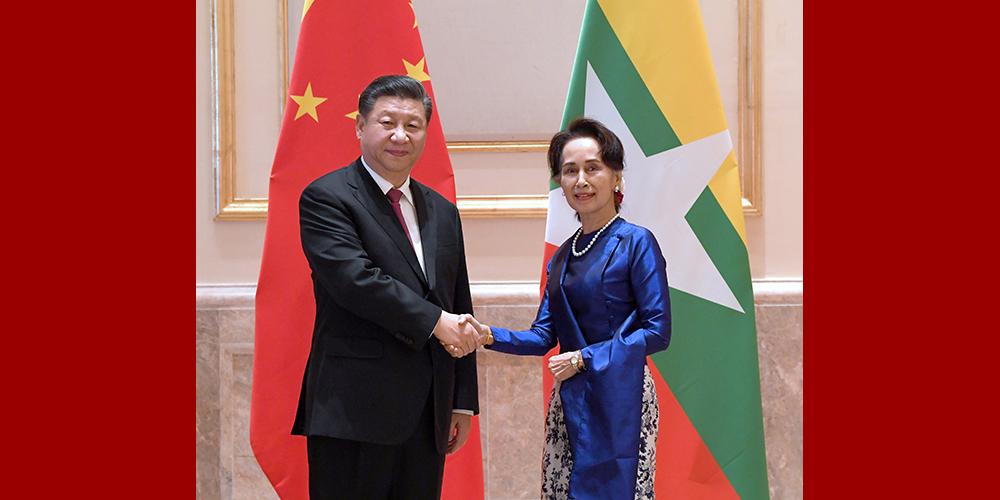 Xi reúne-se com conselheira de Estado de Mianmar