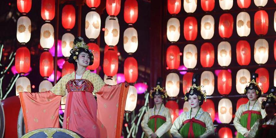Xi'an realiza eventos de turismo cultural para celebrar a Festa da Primavera