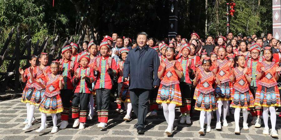 Xi visita Yunnan na viagem de inspeção antes do Ano Novo chinês
