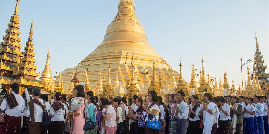 Cenário das cidades em Mianmar