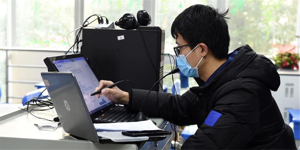 Professoresoferecem aulas onlinepara estudantes em meio ao surto do novo coronavírusem Hefei, província de Anhui