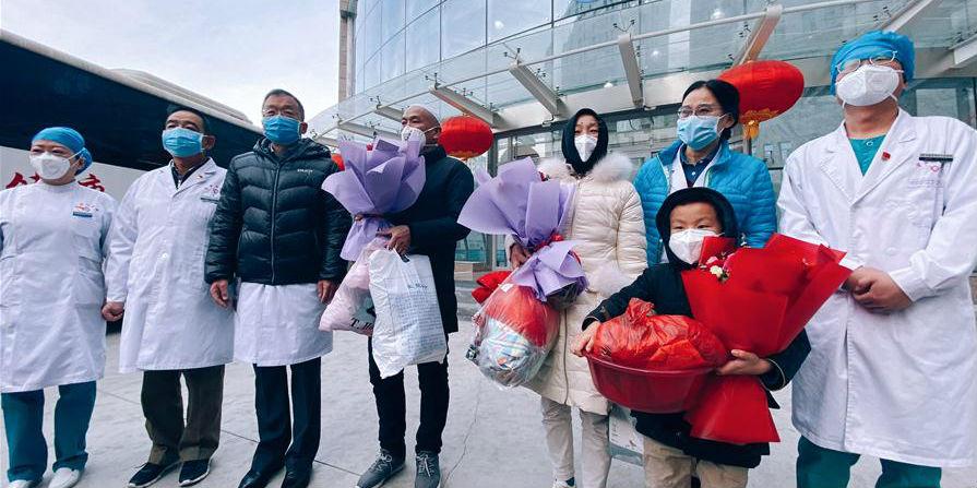 3 pacientes infectados pelo novo coronavírus recebem alta hospitalar em Xining
