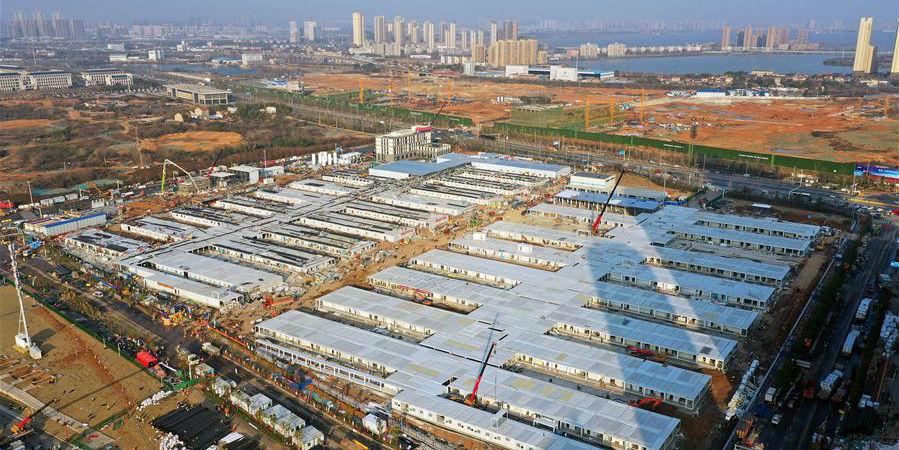 Concluída a parte principal da construção do Hospital Leishenshan em Wuhan