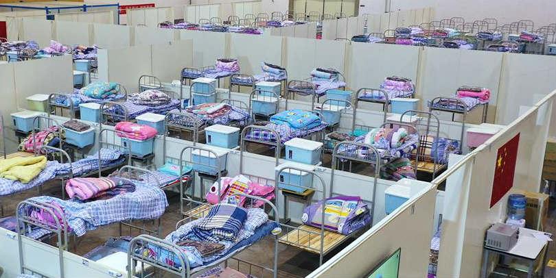 Hospital provisório em Wuhan está pronto para receber pacientes infectados pelo novo coronavírus