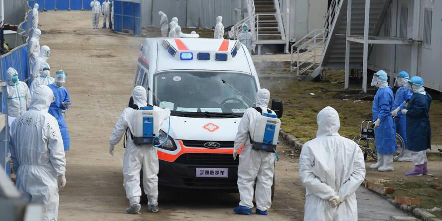 Hospital Huoshenshan, construído em Wuhan para tratamento do coronavírus, recebe novos pacientes infectados pela doença
