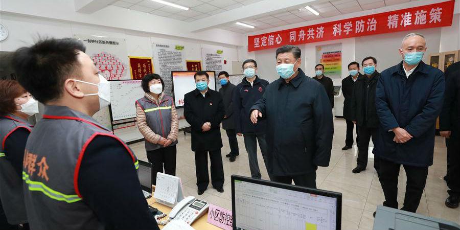 Xi inspeciona trabalho de prevenção e controle do novo coronavírus em Beijing