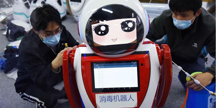 Robôs de desinfecção entram em serviço em vários hospitais em Qingdao