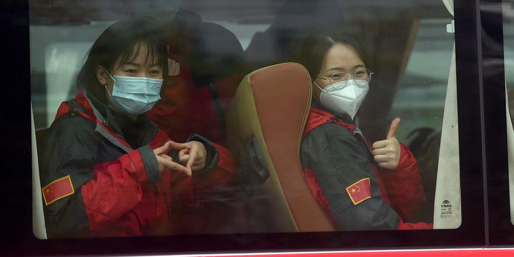 Quarto lote de 453 profissionais médicos de Zhejiang partem em rumo a Wuhan