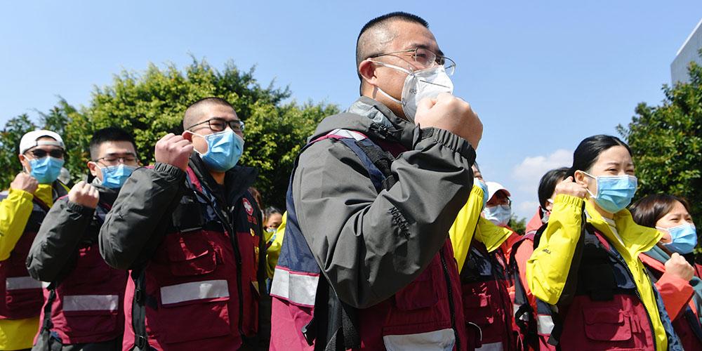 11º lote de 172 funcionários médicos da província de Fujian parte para Wuhan