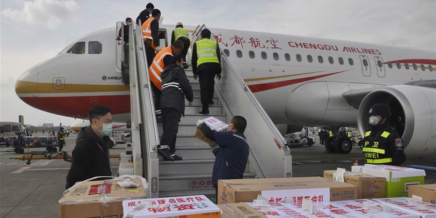 Cidade de Chengdu envia 231 profissionais de saúde e suprimentos médicos para Hubei
