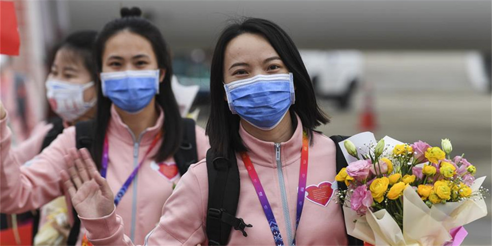 Equipe médica de Guangxi em apoio a Hubei começa a se retirar