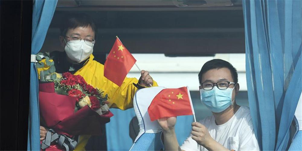 Funcionário médicos de Guizhou e Guangzhou se retiram enquanto a situação de controle da epidemia se melhora em Hubei