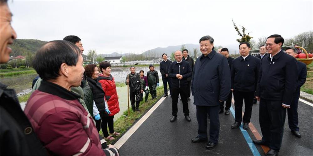 Xi inspeciona distrito no leste da China