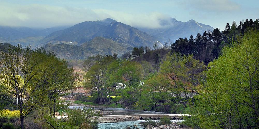 Paisagem da montanha Huangbai em Henan