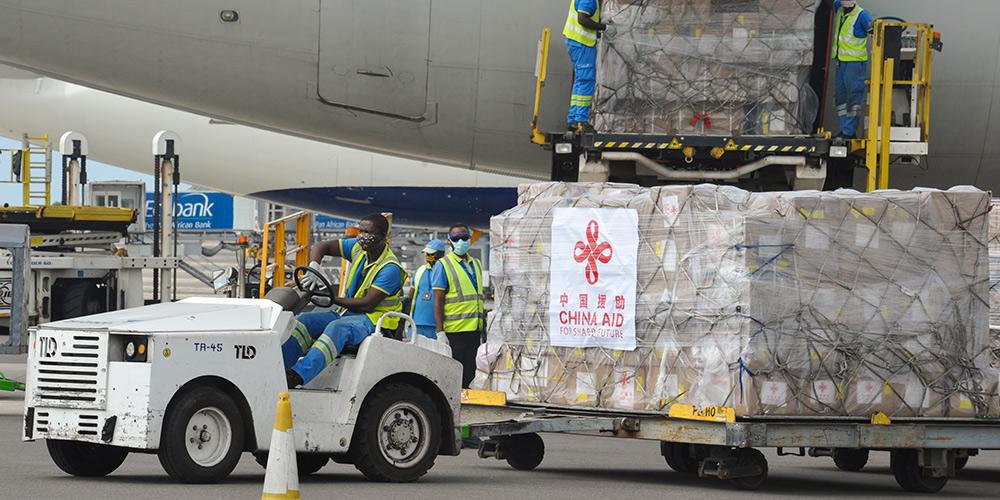 Avião chinês com material médico para 18 países africanos chega a Acra, Gana