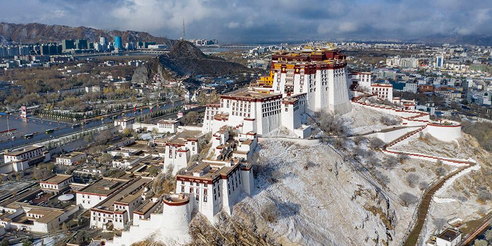 Fotos: paisagem de neve em Lhasa