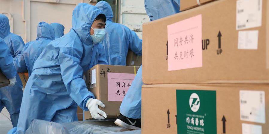 China aloca suprimentos médicos para a cidade fronteiriça de Manzhouli, no norte da China
