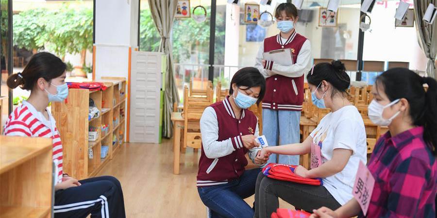 Jardim de infância em Changsha faz preparativos para reabertura