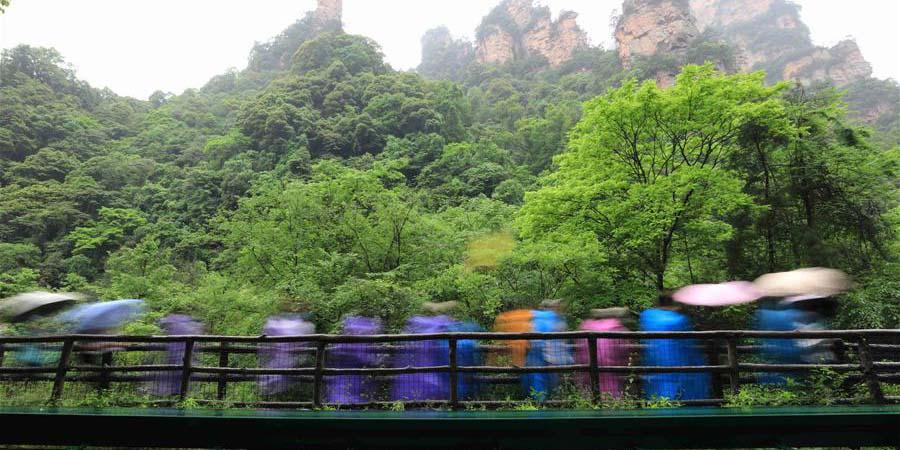 Fotos: área cênica de Wulingyuan em Zhangjiajie, província de Hunan