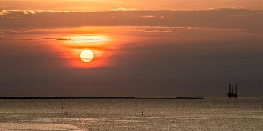 Fotos: pôr do sol em Haikou